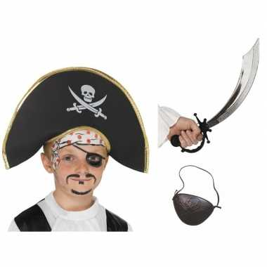 Meisjes piraat accessoires verkleedset voor kinderen