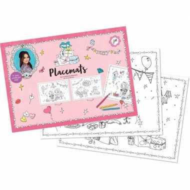 Meisjes placemats jill knutsel setje 10 stuks