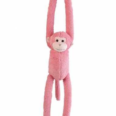 Meisjes pluche hangende knuffels aapjes 55 cm