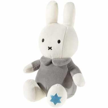 Meisjes pluche nijntje knuffel wit grijs 25 cm baby speelgoed