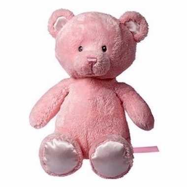Meisjes pluche roze beer 28 cm