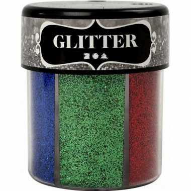 Meisjes potje glitters met felle kleuren
