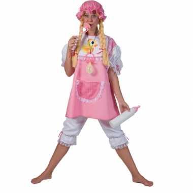 Meisjes roze babypak voor volwassenen