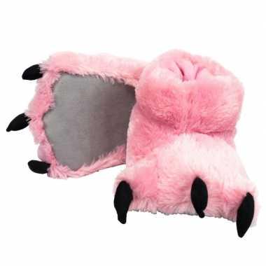 Meisjes roze monsterpoten pantoffels voor kinderen