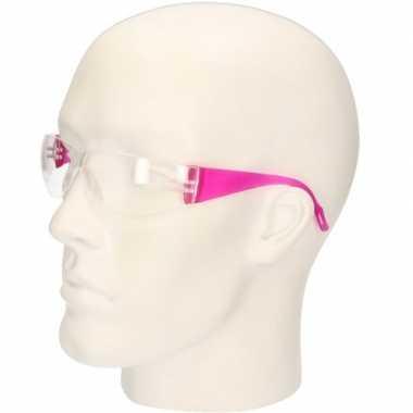 Meisjes roze vuurwerkbril/veiligheidsbril voor kinderen