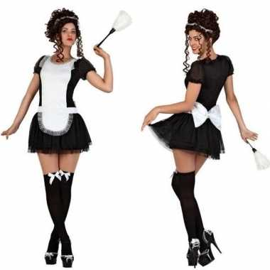 Meisjes sexy dienstmeisje verkleed kostuum/jurkje voor dames