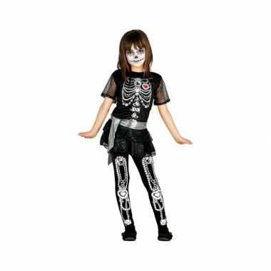 Meisjes skelet jurk met glitters