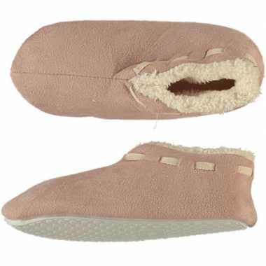 Meisjes spaanse sloffen/pantoffels beige maat 35 36