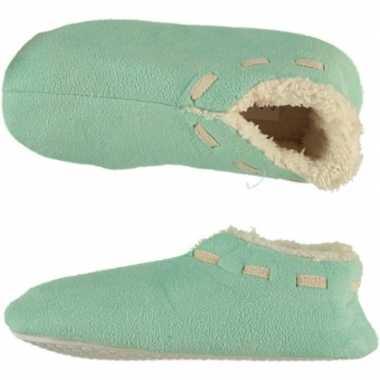 Meisjes spaanse sloffen/pantoffels mint maat 35 36