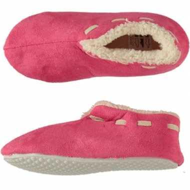Meisjes spaanse sloffen/pantoffels roze maat 35 36