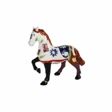 Meisjes spaarpot paard wit bruin