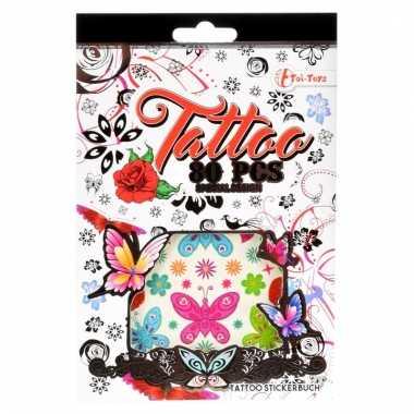 Meisjes stickervellen tattoo roze 280 stuks type girl