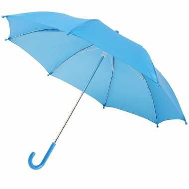 Meisjes storm paraplu voor kinderen 77 cm doorsnede blauw