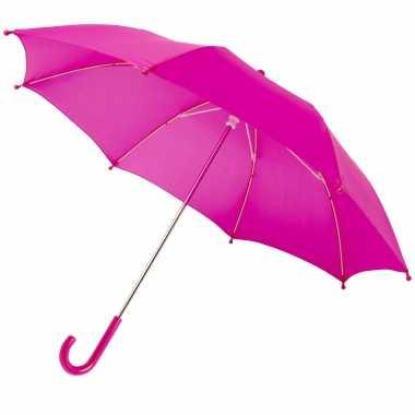 Meisjes storm paraplu voor kinderen 77 cm doorsnede fuchsia roze