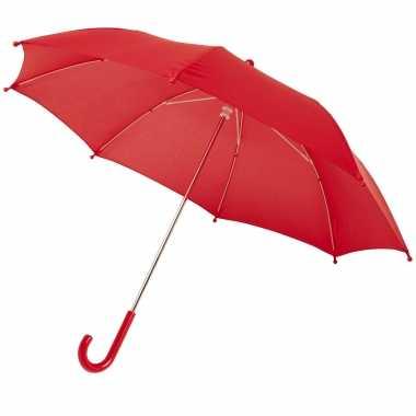 Meisjes storm paraplu voor kinderen 77 cm doorsnede rood