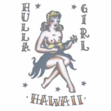 Meisjes tijdelijke tatoeage hula meisje
