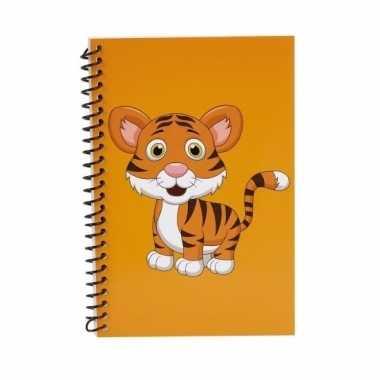 Meisjes tijgers kinder/peuters schriften oranje 18cm