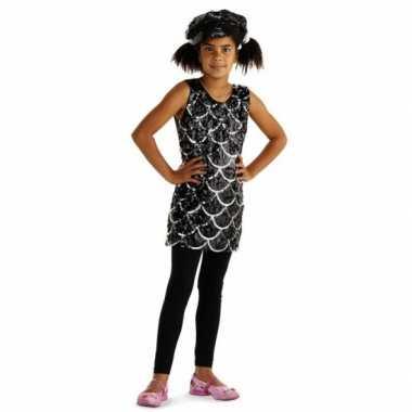 Meisjes zwarte jurkjes met pailletten voor kids