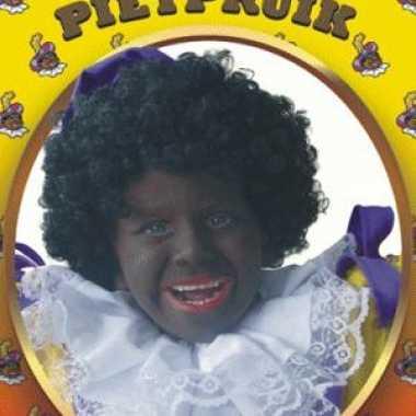Meisjes zwarte pieten pruik kinderen