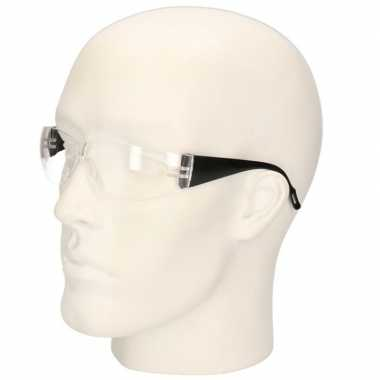 Meisjes zwarte vuurwerkbril/veiligheidsbril voor kinderen