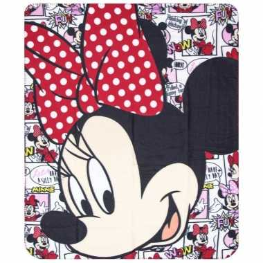 Minnie mouse cartoon fleece deken voor meisjes