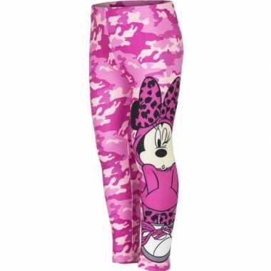 Minnie mouse legging roze voor meisjes