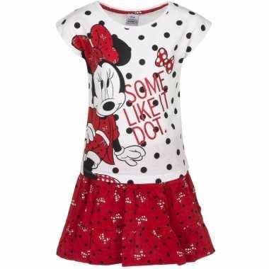 Minnie mouse rood rokje met shirt meisjes