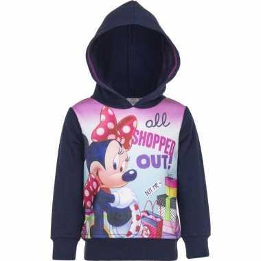 Minnie mouse sweater navy voor meisjes