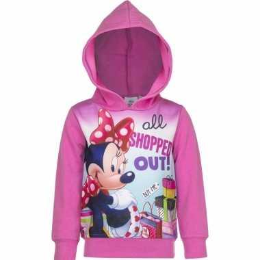 Minnie mouse sweater roze voor meisjes
