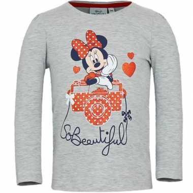 Minnie mouse t shirt grijs voor meisjes