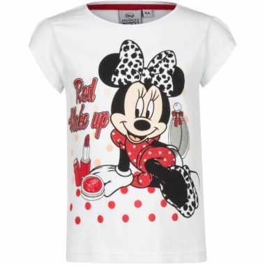 Minnie mouse t shirt wit voor meisjes