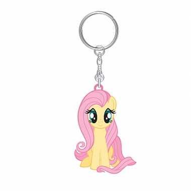 My little pony sleutelhanger fluttershy 7 cm voor meisjes