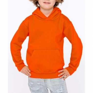 Oranje sweater trui hoodie voor meisjes