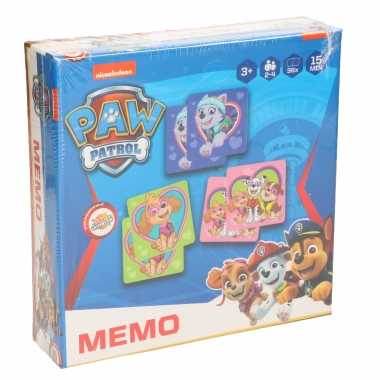 Paw patrol memory spel speelgoed voor meisjes/kinderen