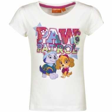 Paw patrol shirt wit voor meisjes