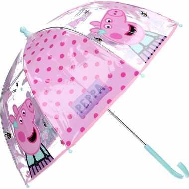 Peppa pig/big kinderparaplu transparant voor /meisjes 61 cm
