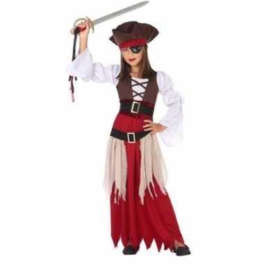 Piraten verkleed kostuum/jurk voor meisjes