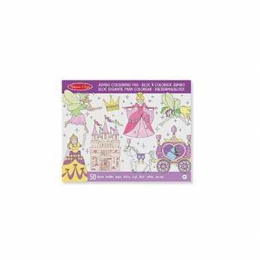 Prinses mega kleurboek voor meisjes