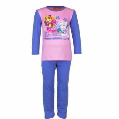 Pyjama paw patrol voor meisjes blauw