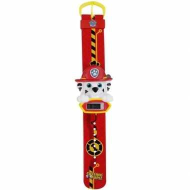 Rood paw patrol digitaal horloge marshall voor /meisjes