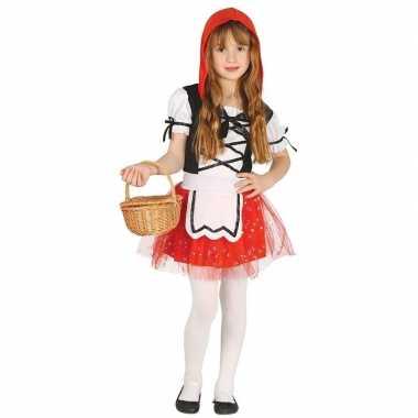 Roodkapje verkleed kostuum/jurkje voor meisjes