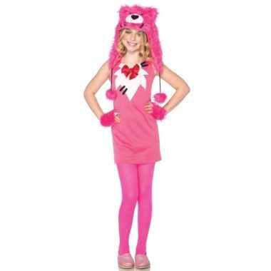 Roze berenpakje voor meisjes