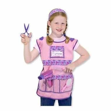 Roze kapster set voor meisjes