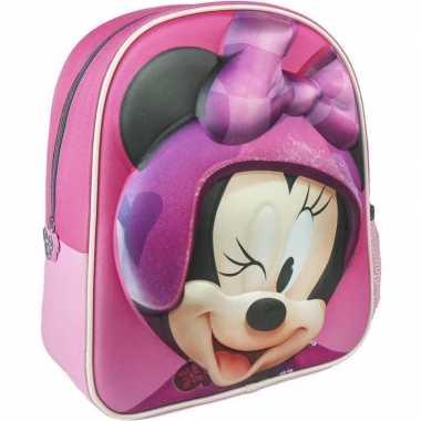Roze minnie mouse rugtas/rugzak 25 x 31 cm voor meisjes