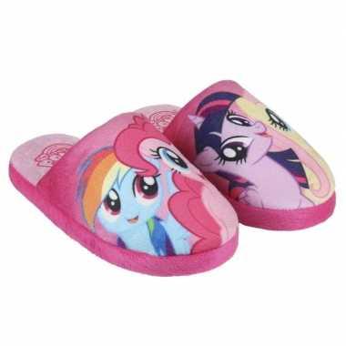 Roze my little pony pantoffels voor meisjes