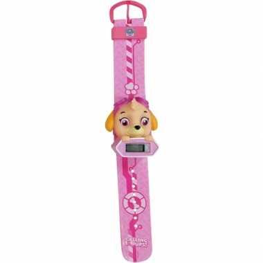 Roze paw patrol digitaal horloge skye voor /meisjes