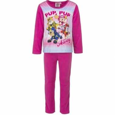 Roze paw patrol pyjama voor meisjes