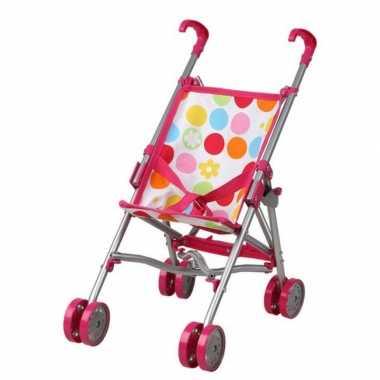 Roze poppenwagen speelgoed voor meisjes