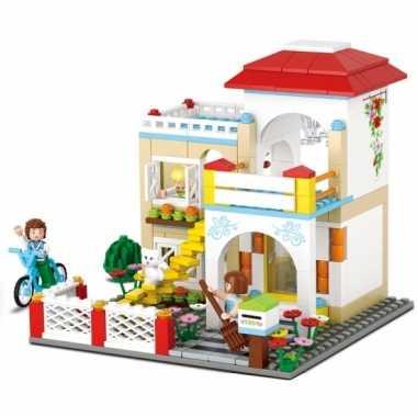 Sluban huis bouw speelset voor meisjes