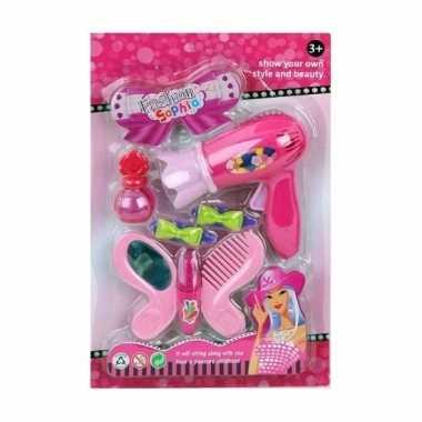Speelset beautysalon roze voor meisjes